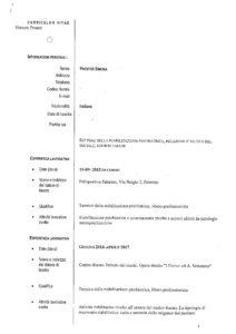 Curriculum Vitae Tecnico Della Riabilitazione Psichiatrica Prester